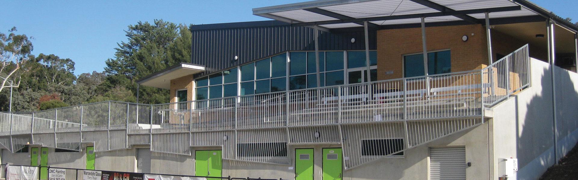 exterior of sports pavillion